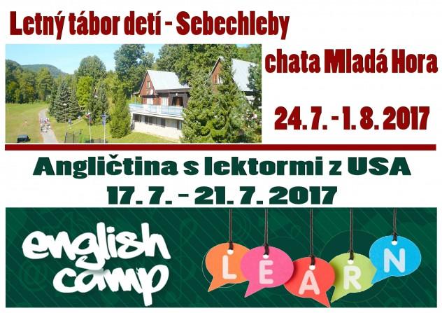 Letný tábor 2017 a Angličtina 2017 a