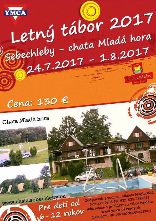 Letný tábor 2017 plagát (chata Mladá hora)